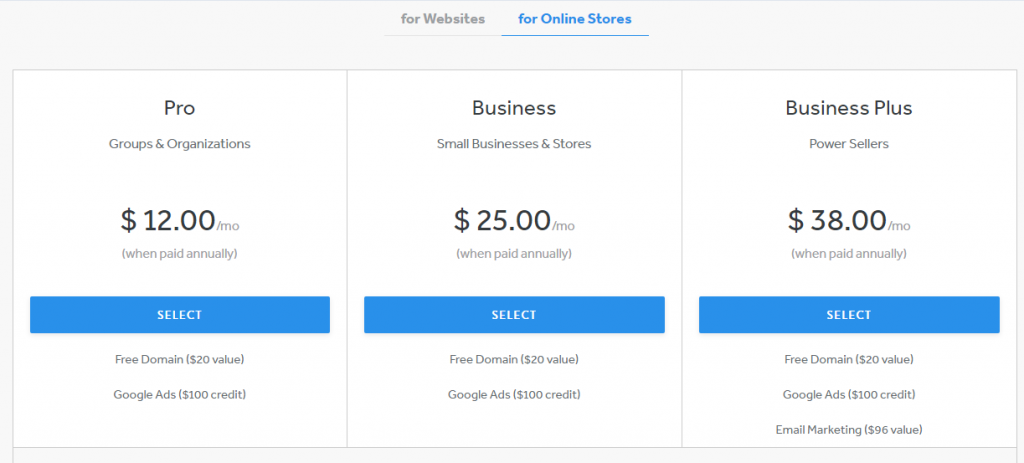 weebly-price-online-store